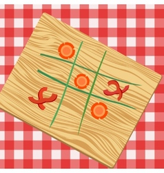 Ouths and crosses made from vegetables vector image