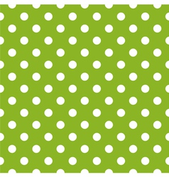 Seamless spring green pattern and white polka dots vector image vector image