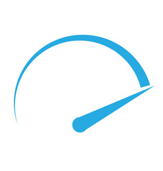 speedometer icon on white background speedometer vector image