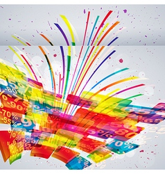 Abstract sale background vector image vector image