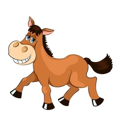 Brown mad horse vector image vector image