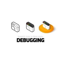 Debugging icon in different style vector image