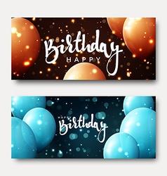 Happy birthday calligraphic inscription with vector image