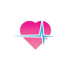 hearth beat logo vector image