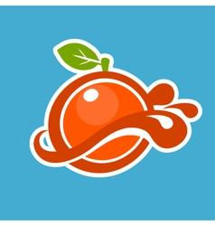 Orange Juice Icon vector image vector image
