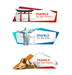 Set banners on the theme of travel vector