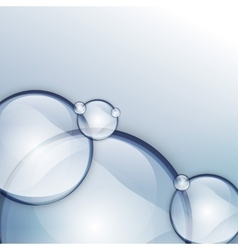 bubble blue one vector image
