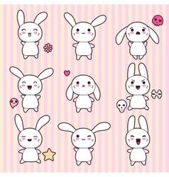 Cartoon Cute Rabbit Character vector image vector image