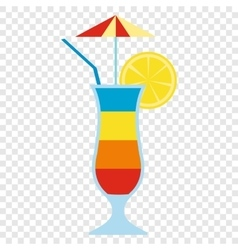 Cocktail drink fruit juice vector image