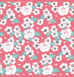 elegant seamless pattern with white flowers vector image vector image
