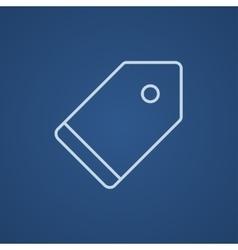 Empty tag line icon vector image