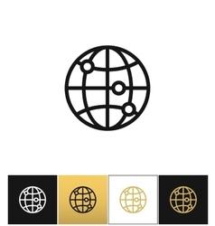 Internet globe earth world icon vector image vector image