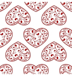red heart seamless vector image