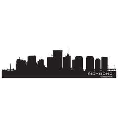 Richmond Virginia skyline Detailed city silhouette vector image vector image
