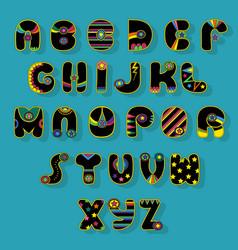 Black alphabet superhero style vector