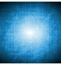 Bright blue hi-tech grunge background vector image