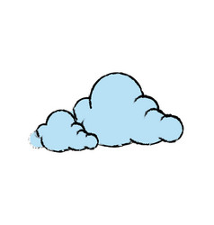 Cartoon cloud graffiti artistic design vector