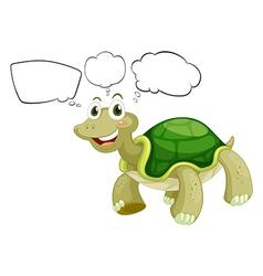 Cartoon Thinking Turtle vector image