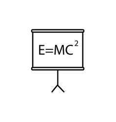 mass energy equivalence board icon vector image