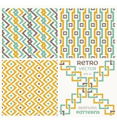 Set of seamless textures in retro style vector image vector image
