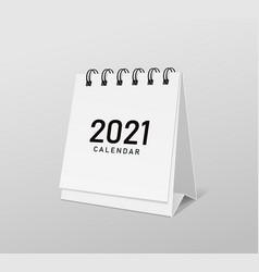 2021 calendar white paper template design vector image