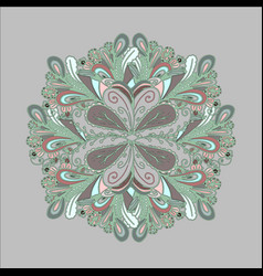 abstract round pattern vintage paisley ornament vector image