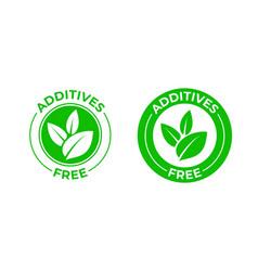 Additives free green organic leaf icon vector