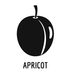 Apricot icon simple style vector