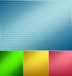 Background of halftone set vector image