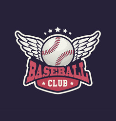 baseball club badge sport logo template vector image