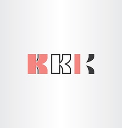 black red letter k logo set vector image