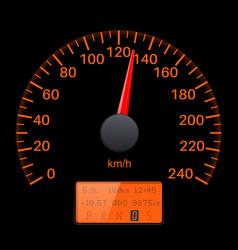 Black speedometer scale speed gauge vector