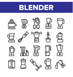blender kitchen tool collection icons set vector image