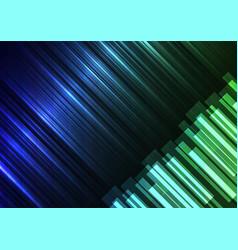 Blue green speed bar overlap in dark background vector