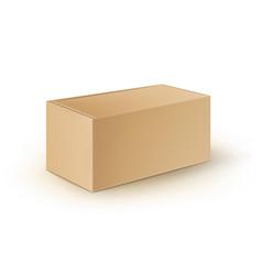 Brown blank cardboard rectangle take away vector