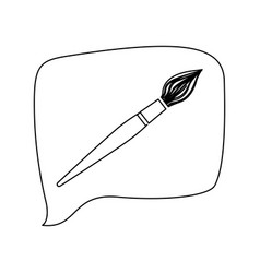 brush line icon education vector image vector image