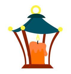 burning candle icon cartoon style vector image