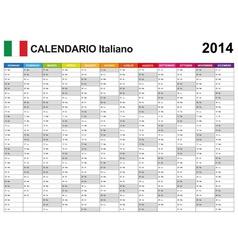 Calendar 2014 Italy Type 12 vector image
