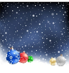 christmas bauble night background vector image