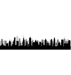cityscape silhouette urban city vector image
