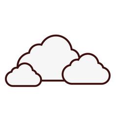 Cloud storage icon vector