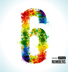 Color paint splashes Gradient Number 6 vector