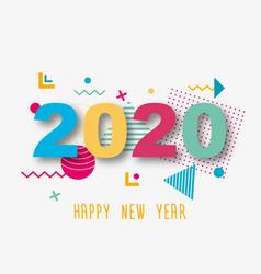 Creative design a new year card 2020 on a vector