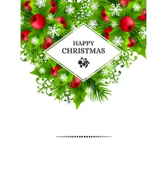 Cristmas holly fir banners 06 vector