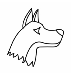 Doberman dog icon outline style vector image