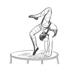 Doodle circus acrobat vector