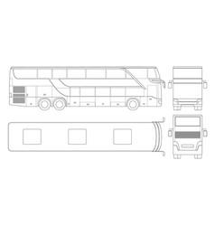 double-deck multi-axle luxury touring coach vector image