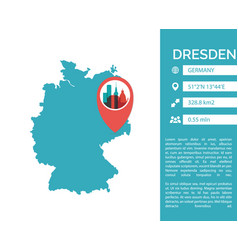 dresden map infographic vector image