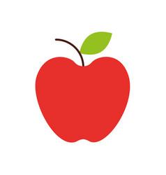 fresh fruit apple food market icon vector image