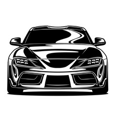 front view car vector image